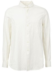 Uma Wang High Collar Shirt White