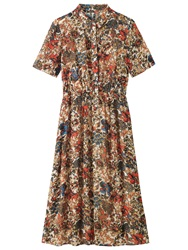 Toast Floral Printed Shirt Dress Multi