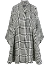 Gianluca Capannolo Oversized Houndstooth Cape Black
