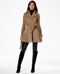 Inc International Concepts Petite Skirted Coat Only At Macy's Camel