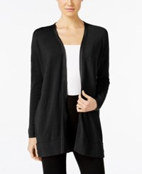 Alfani Zip Trim Cardigan Only At Macy's Deep Black