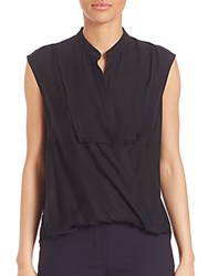 3.1 Phillip Lim Draped Wrap Blouse Black