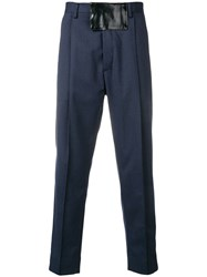 Just Cavalli Slim Fit Tailored Trousers Blue