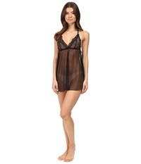 Only Hearts Club Whisper Sweet Nothings Lace Cup Tulip Chemise Black Black Women's Pajama