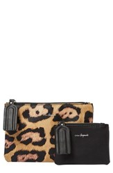 Urban Originals Dreamer 2 Pack Vegan Leather Card Cases Orange Black Leopard