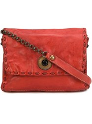Campomaggi Chain Strap Crossbody Bag Red