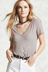 Forever 21 Ribbed V Neck Tee