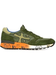 Premiata Panelled Sneakers Green
