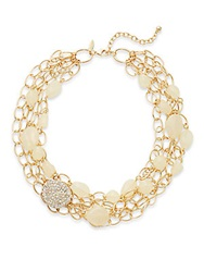 Rj Graziano Beaded Multi Chain Necklace Ivory