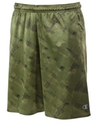 Champion Men's Printed X Temp Vapor Training Shorts Green
