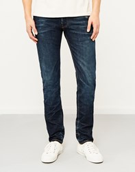 Hawksmill 14Oz Organic 6 Months One Wash Slim Tapered Fit Jeans Blue