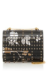 Elie Saab Print Studded Clutch Bag