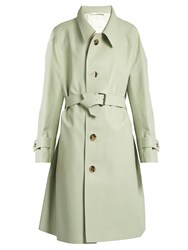 Maison Martin Margiela Oversized Waist Tie Trench Coat Grey