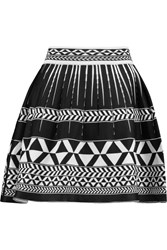 Maje Justin Stretch Jacquard Knit Mini Skirt Black