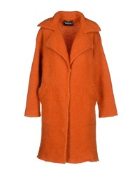 Chiara Bertani Coats And Jackets Full Length Jackets Women Orange