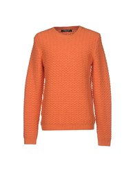 Topman Design Knitwear Jumpers Men Orange