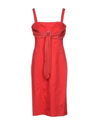 Roccobarocco Knee Length Dresses Red
