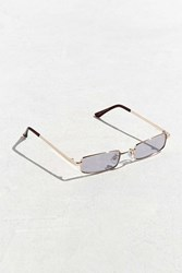 Urban Outfitters Metal Rectangle Sunglasses Gold