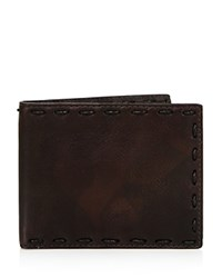 John Varvatos Star Usa Marble Stained Leather Wallet Distressed