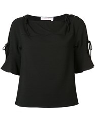 See By Chloe Tie Detail T Shirt Black