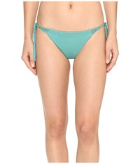 O'neill Malibu Solids Tie Side Bottoms Aloe Women's Swimwear Green