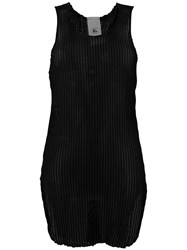 Lost And Found Rooms Long Ribbed Tank Black