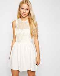 Hedonia Leah Dress With Lace Overlay Ivory