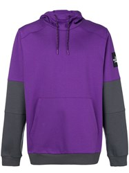 The North Face Colour Block Hoodie Pink And Purple