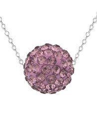 Lord And Taylor Lavender Sterling Silver Crystal Ball Pendant Necklace