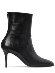 Dorateymur 85Mm Leather Ankle Boots Black