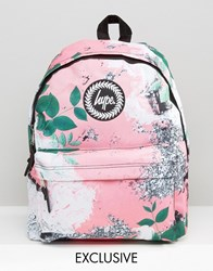 Hype Exclusive Peachy Floral And Leaf Backpack Multi