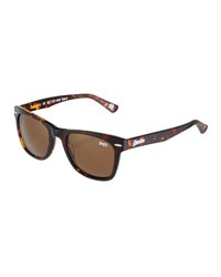 Superdry San Plastic Universal Fit Square Sunglasses Brown