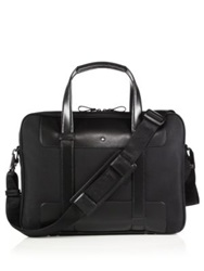 Montblanc Nightflight Leather Briefcase Black