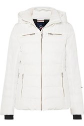Fusalp Izia Hooded Quilted Down Ski Jacket White