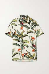 Patbo Printed Voile Shirt Off White