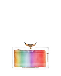 Charlotte Olympia Horn Pandora Clutch Bag And 3 Pouches Clear