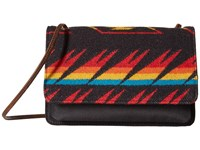 Pendleton Slim Wallet W Strap Arrow Path Black Bi Fold Wallet Yellow