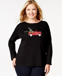 Karen Scott Plus Size Holiday Truck Graphic Top Only At Macy's
