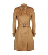 Burberry Tempsford Cashmere Trench Coat Female Camel