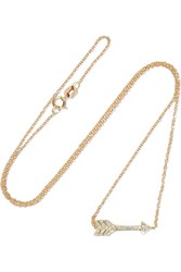 Jennifer Meyer Mini Arrow 18 Karat Gold Diamond Necklace