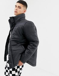 Another Influence Funnel Neck Quilted Jacket Black