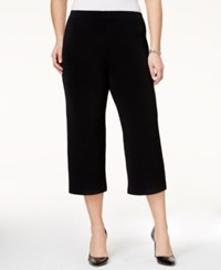 Alfani Plus Size Pull On Culotte Soft Pants Only At Macy's Deep Black