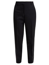 Calvin Klein 205W39nyc Wall Street Tapered Gabardine Trousers Navy Multi