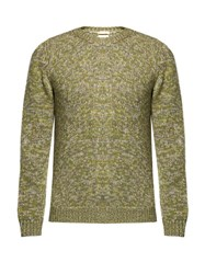 Massimo Alba Long Sleeved Cashmere Sweater Green Multi