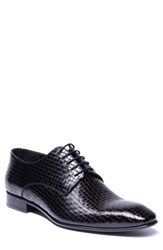 Jared Lang Franco Weave Textured Derby Black Leather