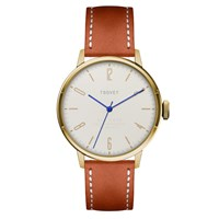 Tsovet Svt Cn38 White And Tan Leather Watch Gold