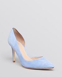 Tory Burch Pointed Toe D'orsay Pumps Classic High Heel Mosaic Blue