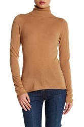 In Cashmere Turtleneck Sweater Brown
