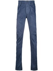 Lost And Found Ria Dunn Darted Slim Flit Trousers Blue
