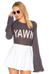 Wildfox Couture Yawn Sweater Charcoal